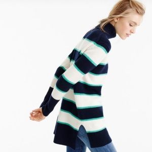 J. Crew Collection wool cashmere striped sweater